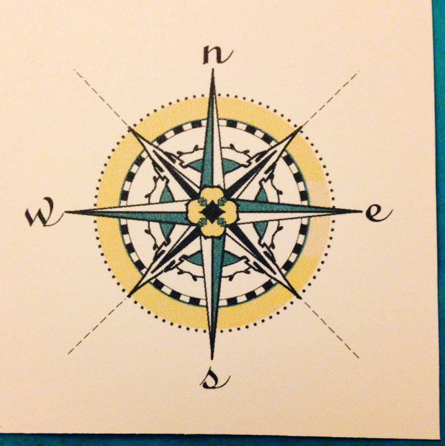 Nautical compass by Tresa Meyer Clark