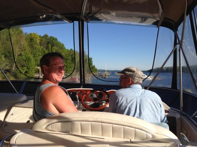 hard work then boating fun