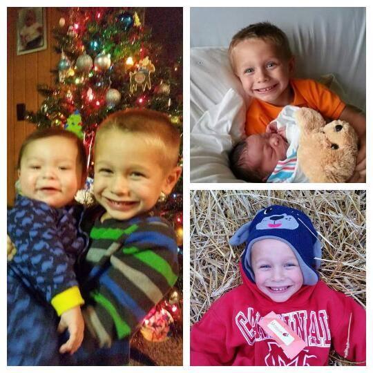 Baby Morgan and his brother, Mason