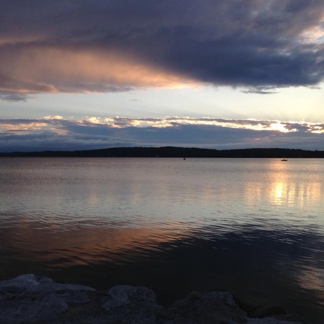 Photo by MeyerClark Studio, Moody Sunrise on Grand Traverse Bay