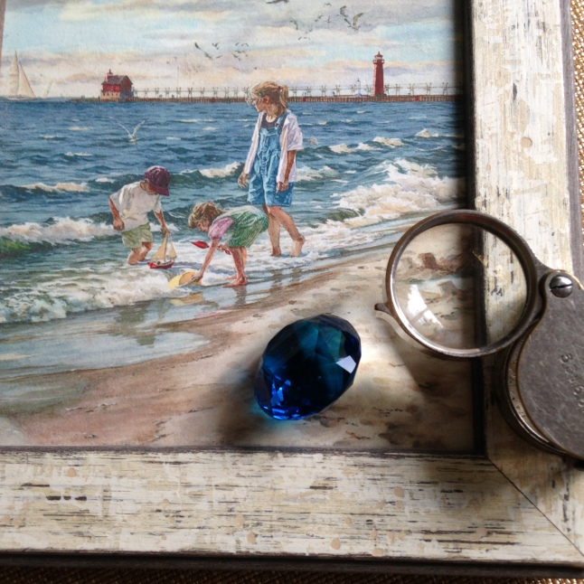 sapphire, Nautical, light house, Michigan artist, Ludington, Michigan, Sapphire