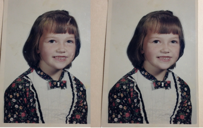 first grade, photo, 1960's, retouched, back to school, school portrait, tresa meyer clark