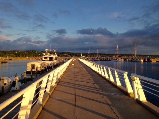 Marina, traverse city, boundaries, the daily press, tresa meyerclark, blogging 101, blogging 102, wordpress blogger, sunrise, boating, nautical,