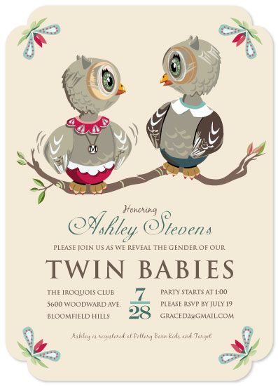 Event design, baby shower, owl theme, gender reveal party