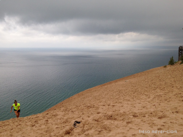 Sleeping Bear dunes, sand dunes, lake Michigan, photo challenge, edge