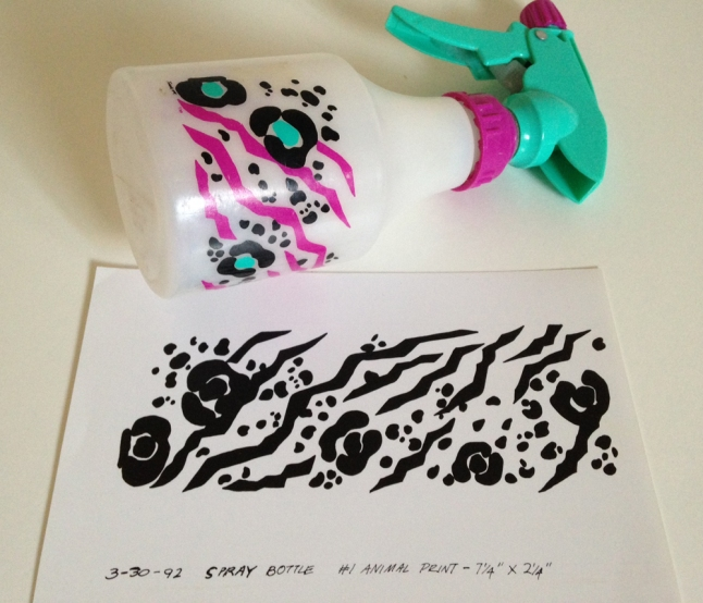 spray bottle, leopard design, Sprayco