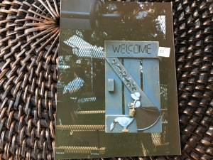 Crafts, painted welcome sign, Tresa Meyer