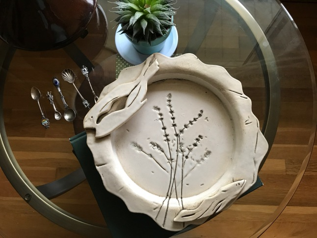 Stoneware Dish, fish dish, ceramic artist, college art, tresa meyer-clark, Marygrove College, art program