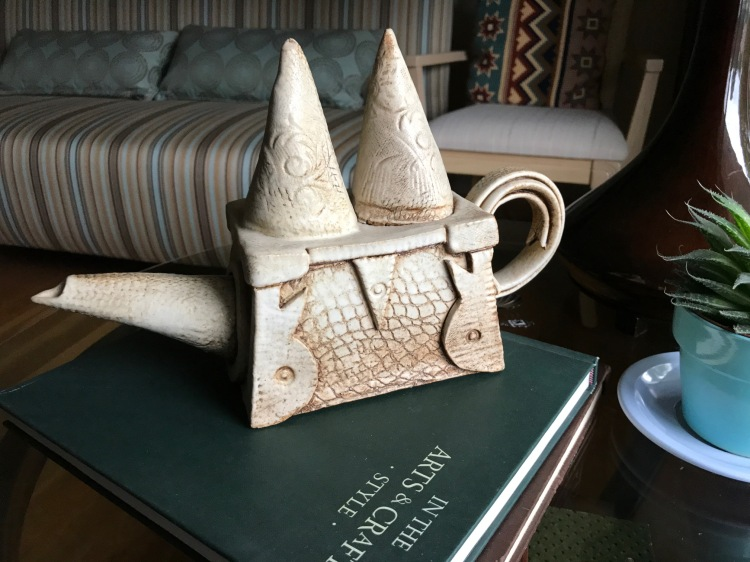 Teapot, Gothic inspiration, by T. meyer-Clark, College work