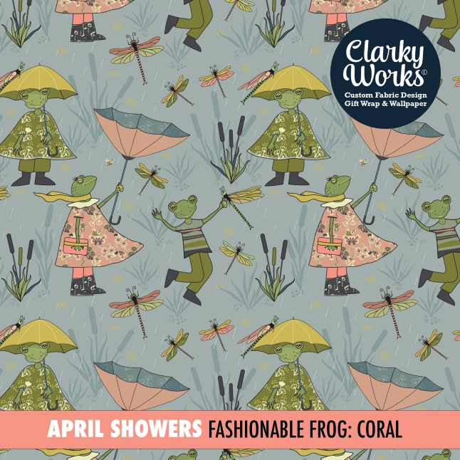 Spring Rain Frogs artwork by ClarkyWorks