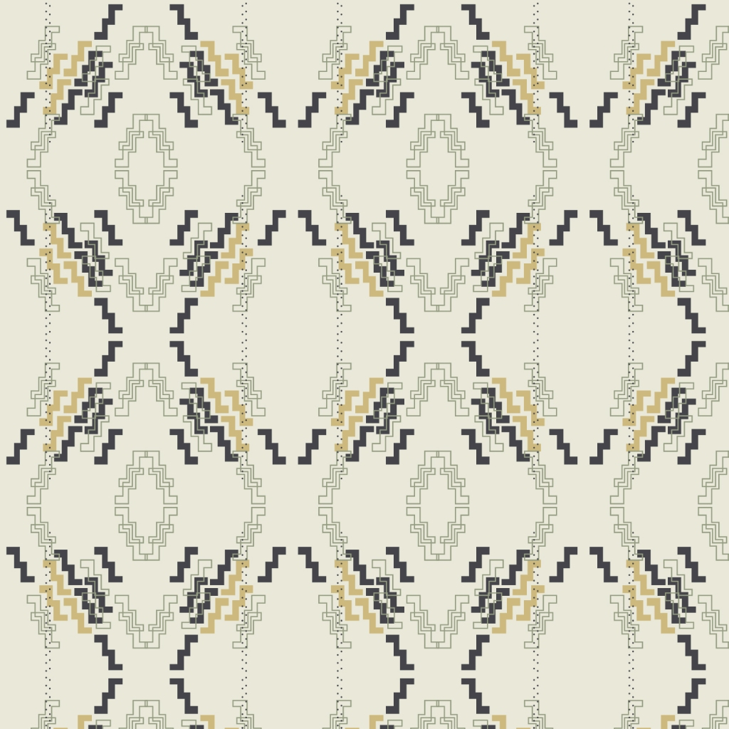 Digital Artwork by Tresa Meyer-Clark, Art Deco, Boho Chevron, Boho diamond, Mustard, surface designer, illustrator, geometric, Chevron motif, digital asset, Large format artwork, modern fabric, boho mix, unique artwork, modern feel, warm traditional, home decor, office decor, wall hanging, sewing projects, mask fabric, neutral palette, beige, gold